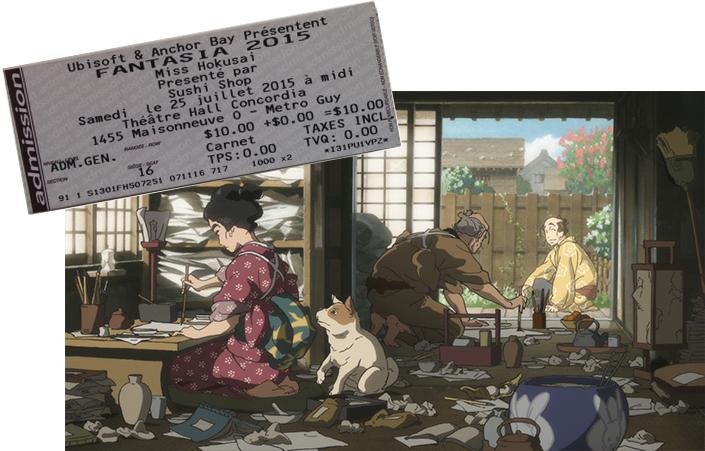 Miss Hosukai with Fantasia ticket stub