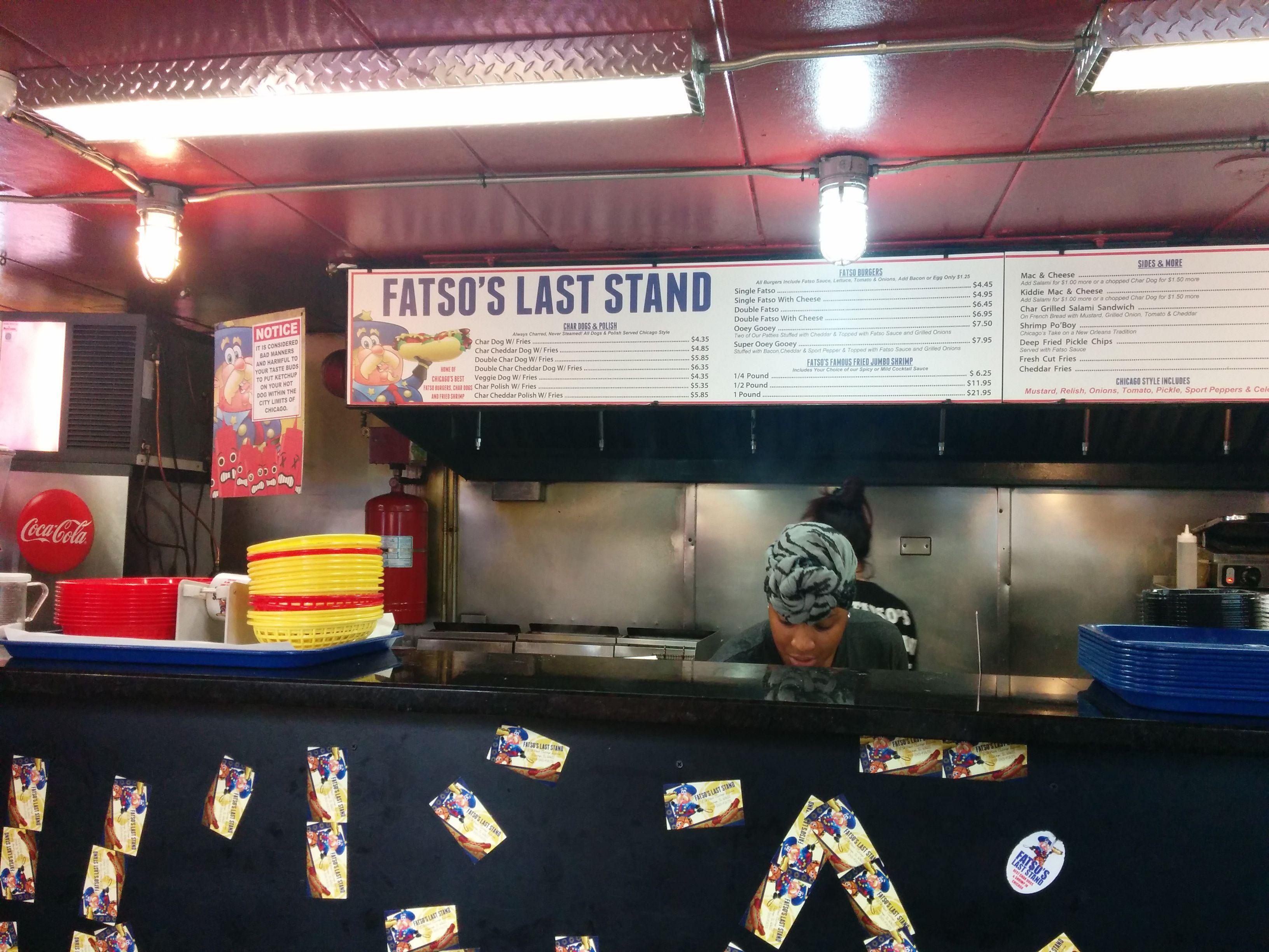 Fatso's last stand menu